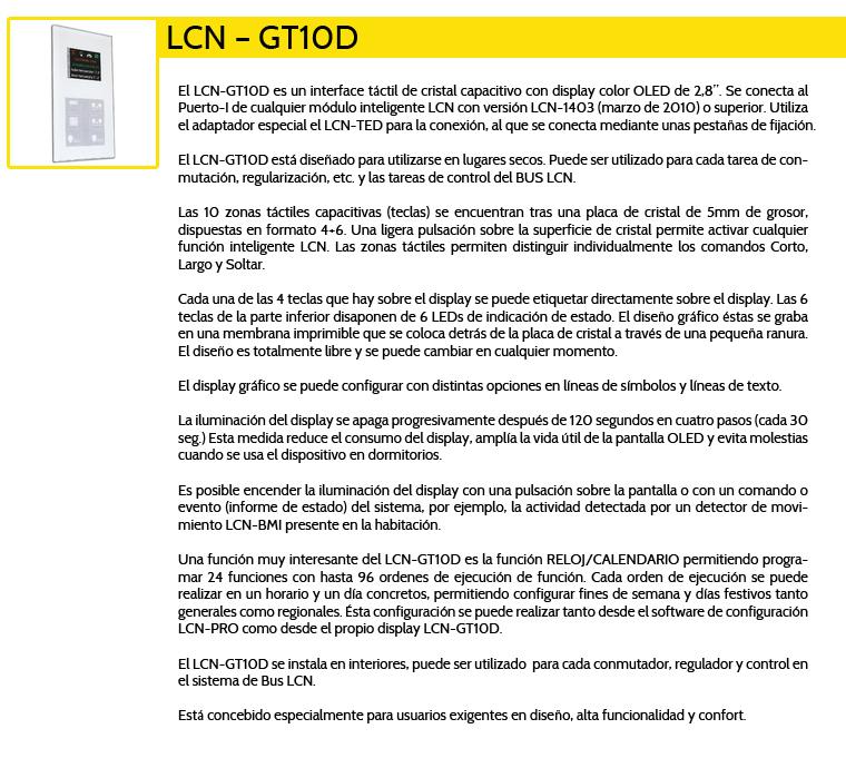 LCN-GT10D